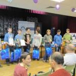 Zadowoleni uczestnicy turnieju od 13 do 18 lat